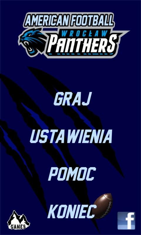 panthers gra menu