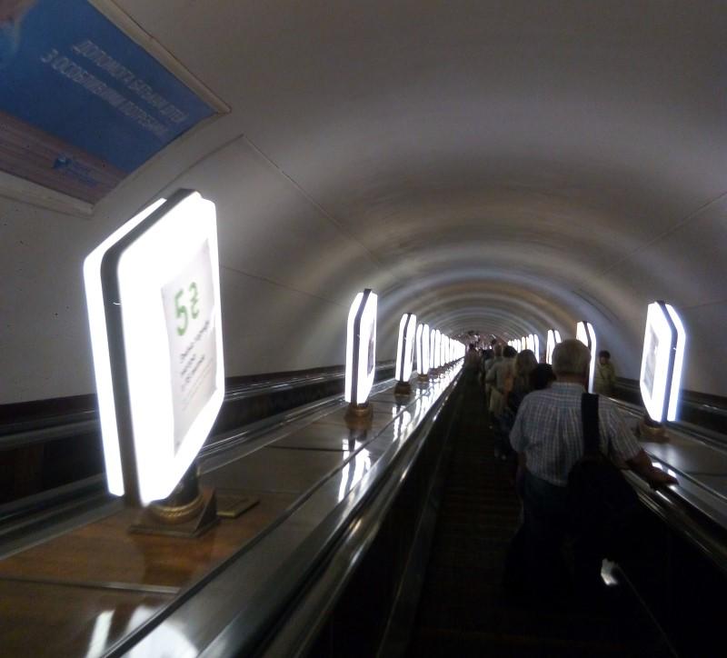 kijow metro schody ruchome