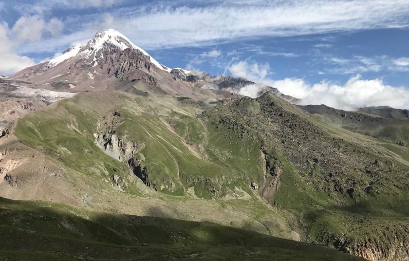 kazbek widok z przeleczy arsha