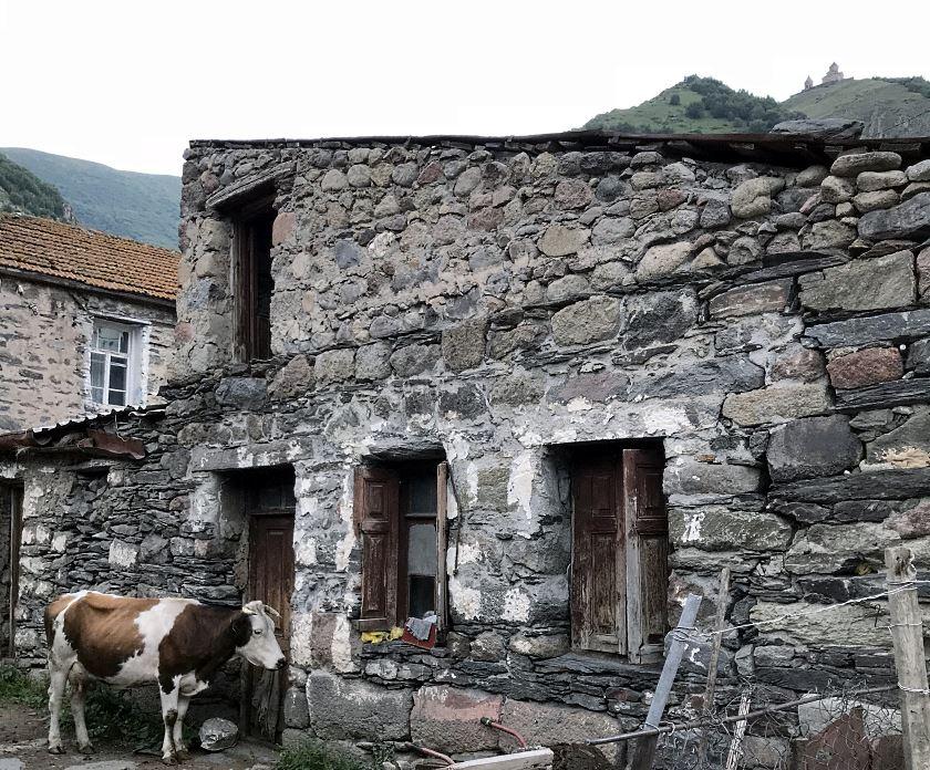 wioska przed szlakiem na cminda sameba