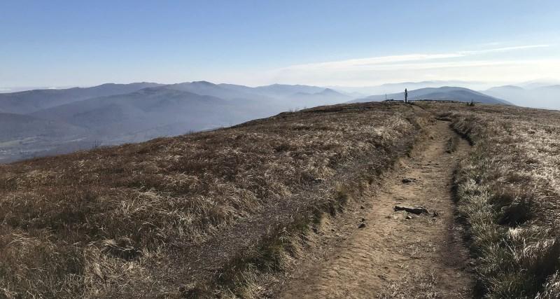 Wielka rawka widok na szczyt
