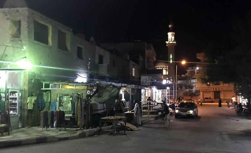 al-kusajr ulica stragan z chlebem
