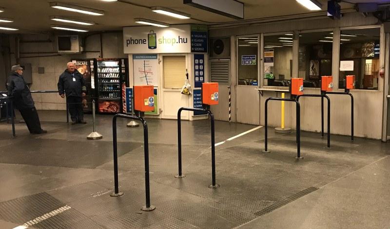 budapeszt metro bramki