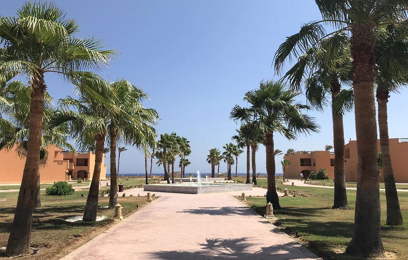 jaz grand resta hotel marsa alam dojscie na plaze