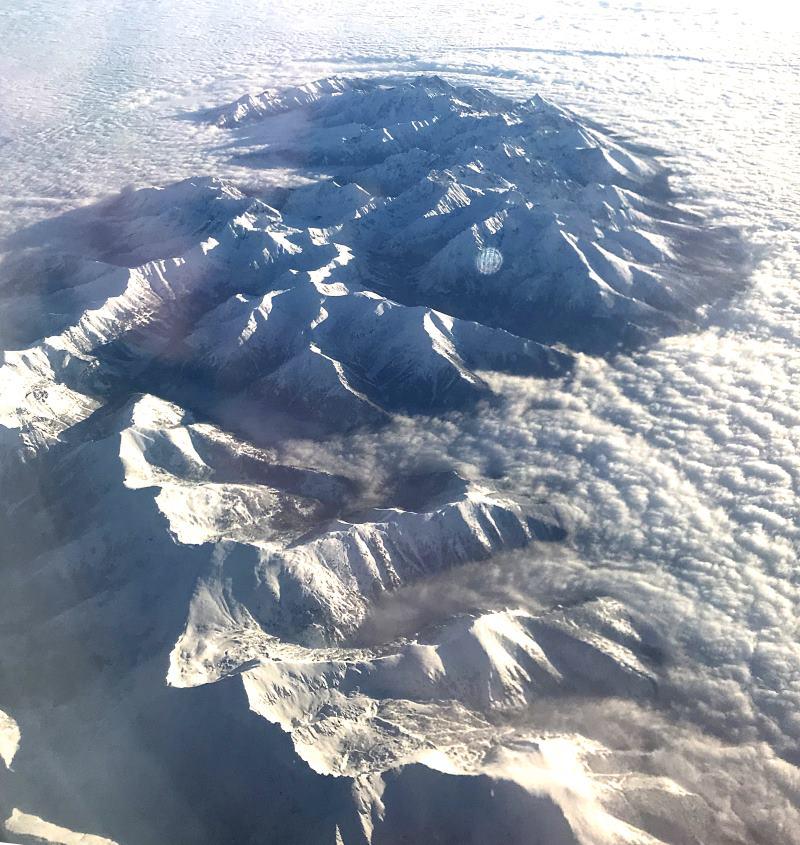 tary widok z samolotu